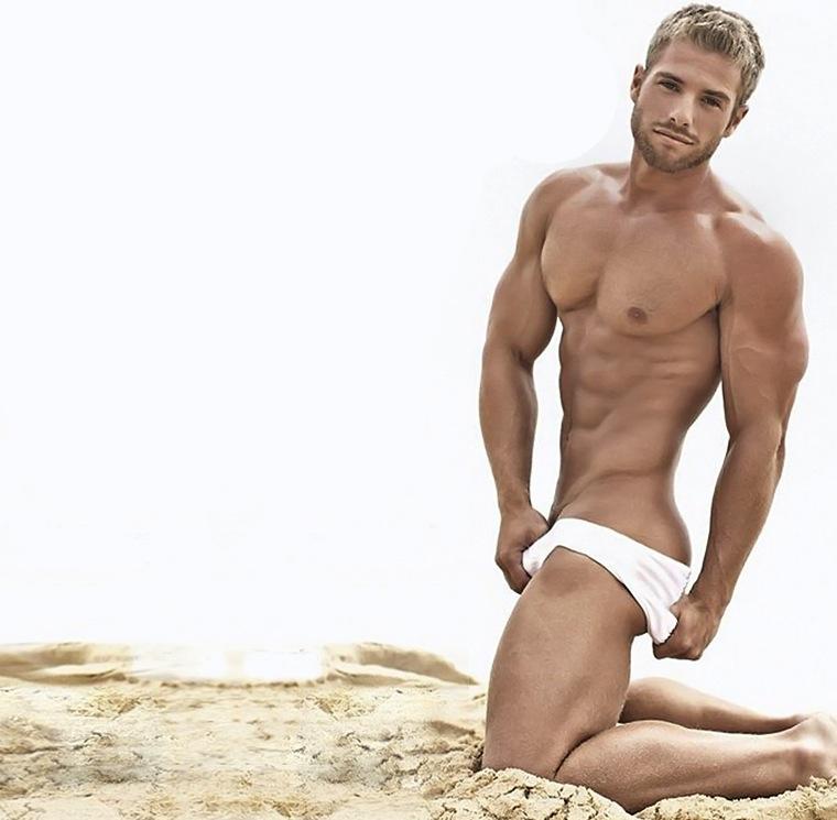Blonde male models naked
