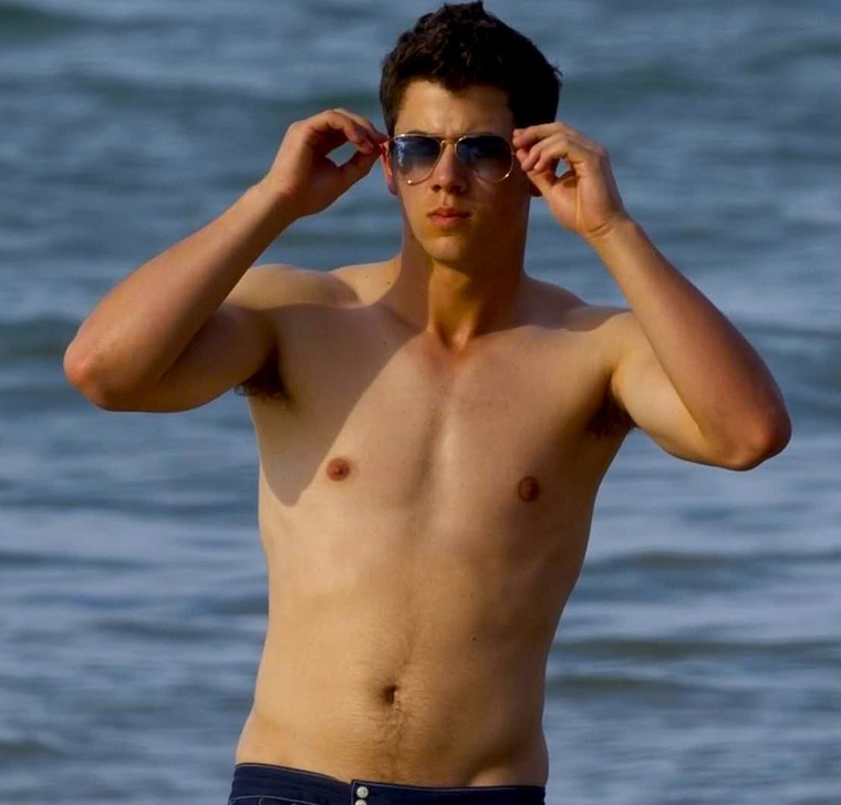 nick jonas shirtless 100