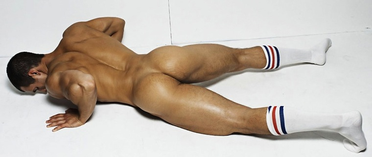 Nude male modeling ass #11
