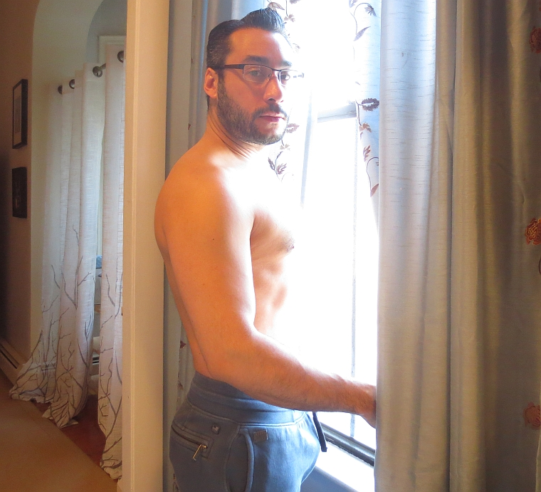 shirtless guy glasses 1
