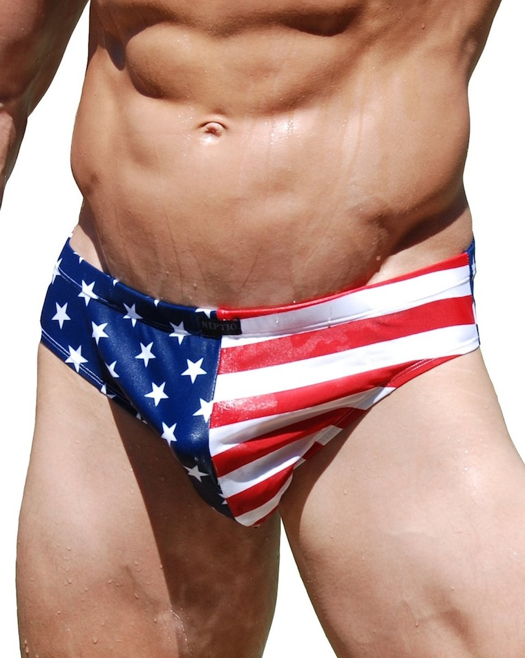 red white blue speedo