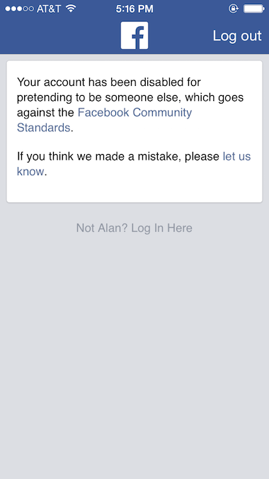 How i was forced off facebook and why i may never return alan ilagan i responded and sent back my reply explaining that i had been reporting someone else for using my photos and i got the following message ccuart Image collections