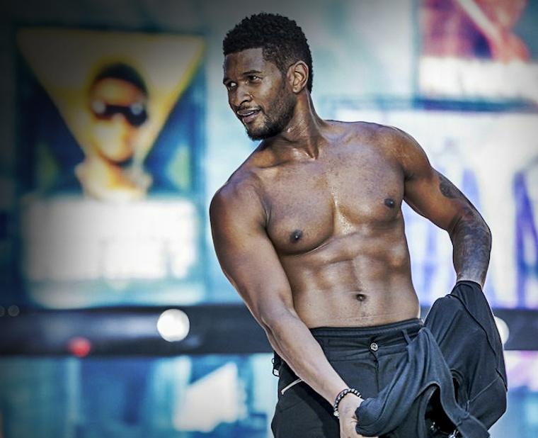 usher shirtless 000